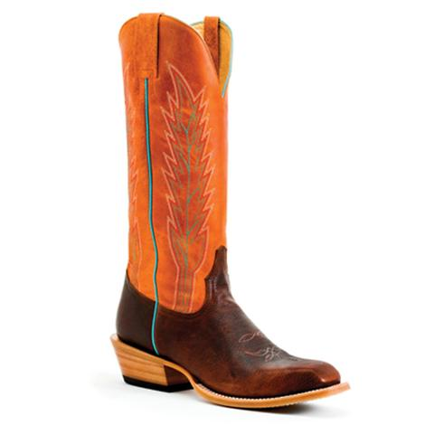 Horsepower Mens Wizard Mahogany 15in Orange Sinsation Boots