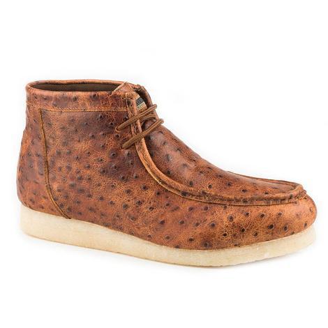 Roper Gum Sticker Ostrich Men's Laceup Shoes