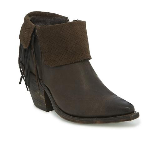 Reba by Justin Womens Hope Espresso Cowhide Suede Boots