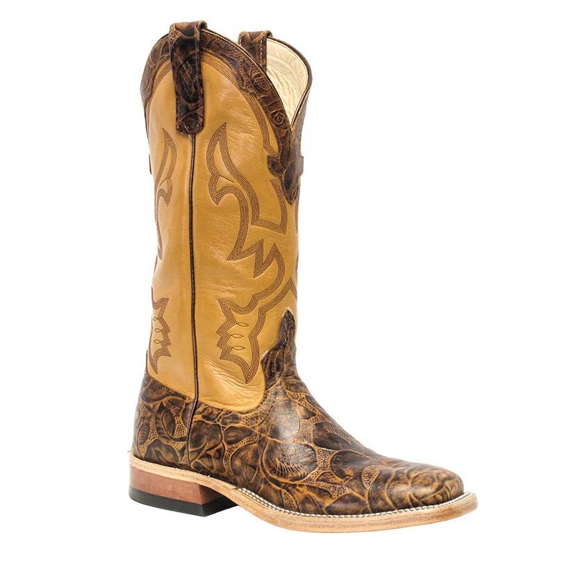 Anderson Bean Womens Brown Decker Embossed Western Boots