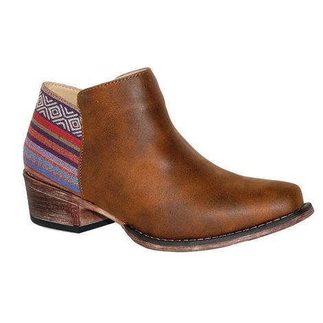 Roper Womens Sedona Round Toe Aztec Shortie Boots