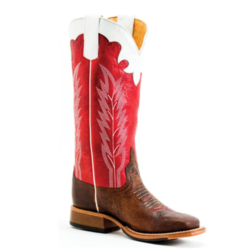 Anderson Bean Kids Saddle Mad Dog Rodeo Red Boots