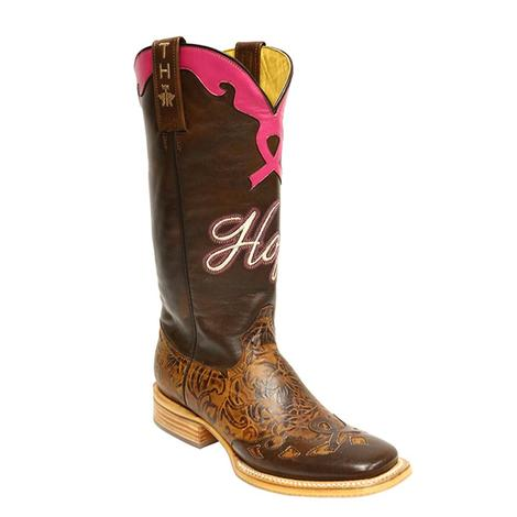 Tin Haul Womens Hope Breast Cancer Awareness Cowgirl Boots