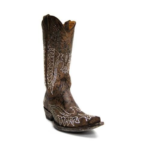 Old Gringo Womens Brown Eagle Swarovski Crystal Western Boots