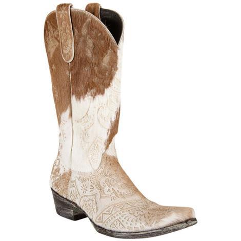 Old Gringo Womens Olivia Tan Calf Hair Western Boots