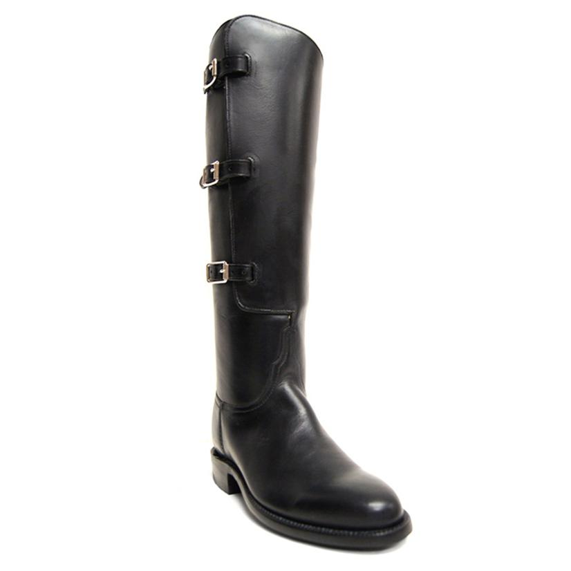 Lucchese Womens Black Oiled Calf Boots