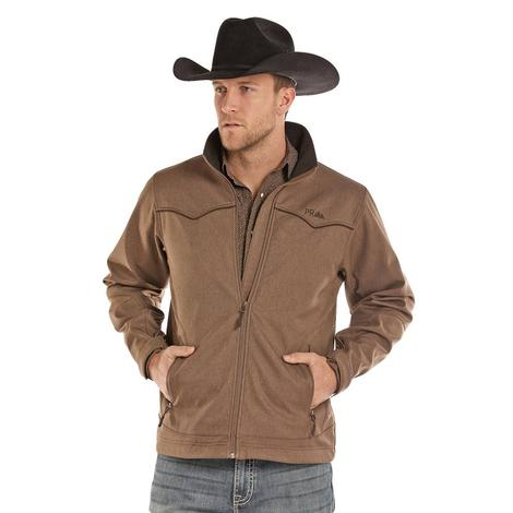 Panhandle Slim Mens Brown Performance Soft Shell Zip Jacket