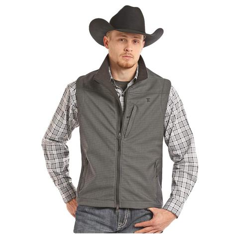 Panhandle Slim Mens Dark Grey Full Zip Vest