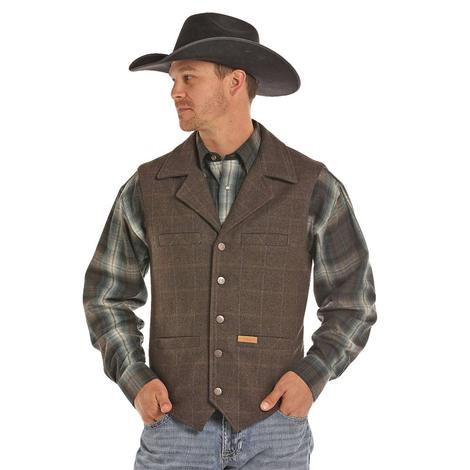 Panhandle Slim Mens Brown Wool Button Up Vest