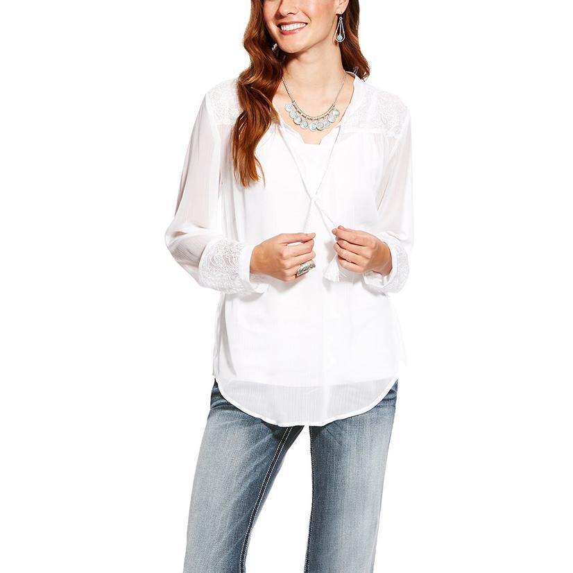 Ariat Womens Romany White Top