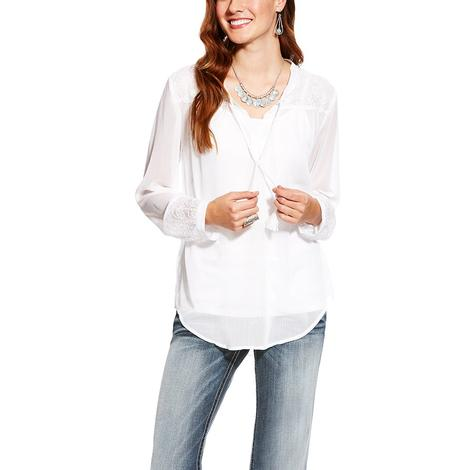 Ariat Womens Romany White Top