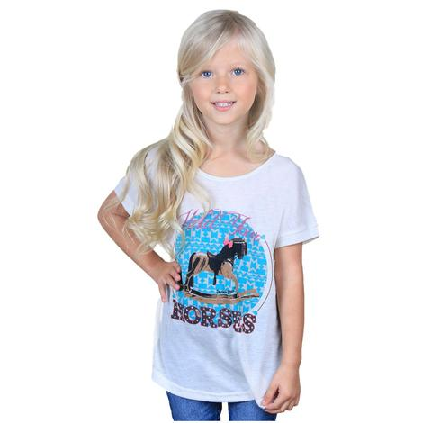 Southern Grace Girls Hold Your Horses Tee