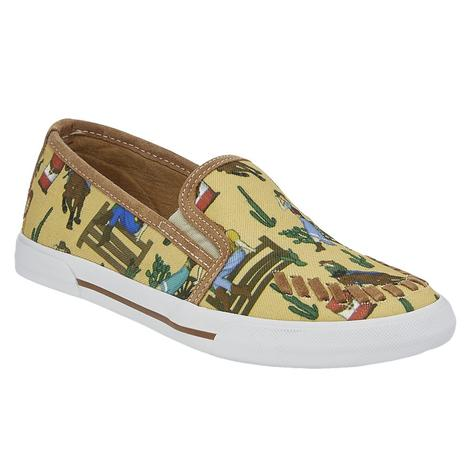 Reba by Justin Womens Alice Sunset Cowgirl Slip-on Shoe