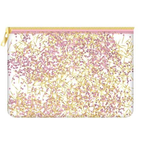 Pink Confetti Cosmetic Bag