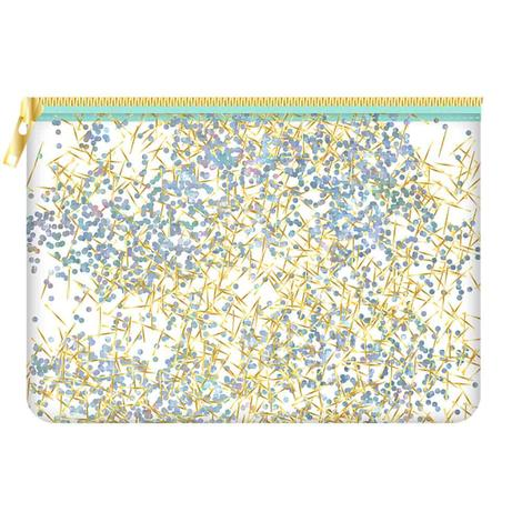 Mint Confetti Cosmetic Bag