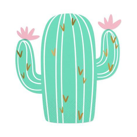 Cactus Cutout Beverage Napkins
