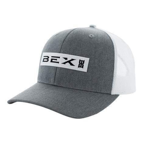BEX Braye Grey & White Mesh Back OSFA Cap