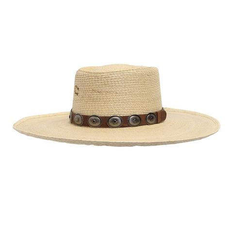 Charlie 1 Horse High Desert Natural Straw with Concho Leather Band Cowboy Hat