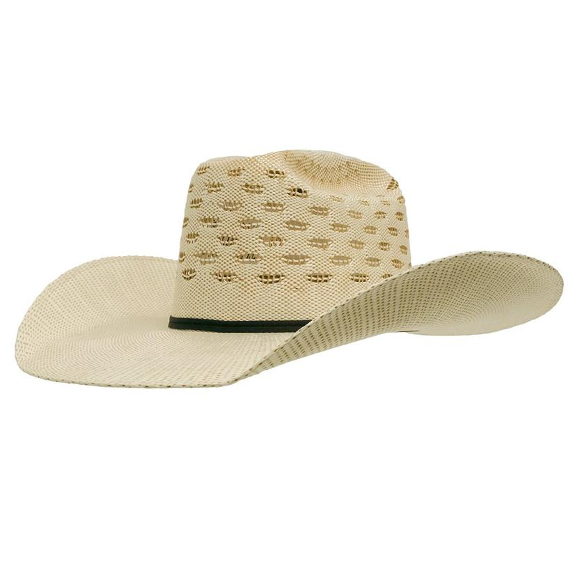 ddee190d Natural and Wheat Open Crown Straw Cowboy Hat
