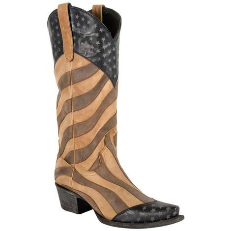 Lane Womens Faded Glory Western Boots
