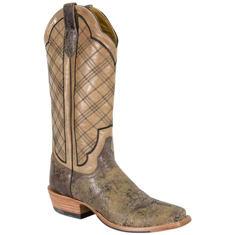 Cinch Womens Vintage Chocolate Plaid Boots