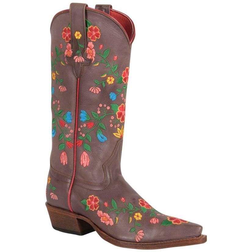 Macie Bean Womens Jambalaya Embroidered Boots
