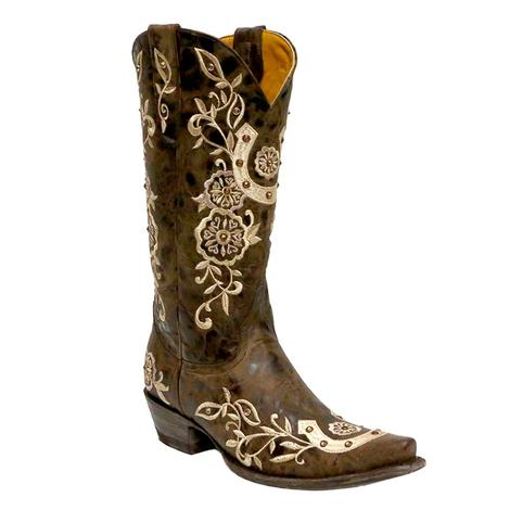 Old Gringo Womens Lucky You Chocolate and Golden Boot