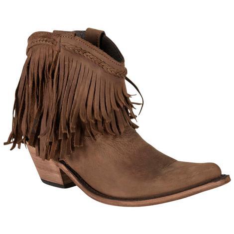 Liberty Black Womens Vegas T- Moro Short Fringe Boot