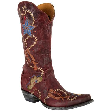 Old Gringo Womens Ye Haw Red Cowhide Western Boots
