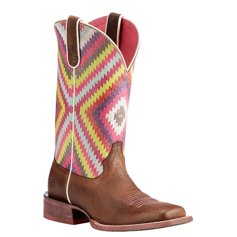 Ariat Womens Circuit Savanna With Aztec Top Boot