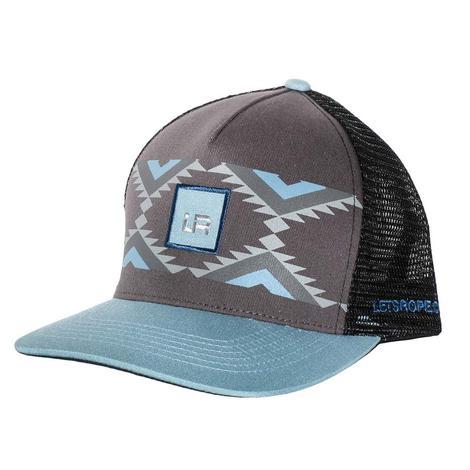 Lets Rope Grey & Blue Aztec Cap