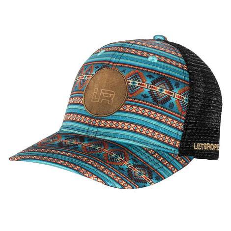 Lets Rope Suede Logo Aztec Cap