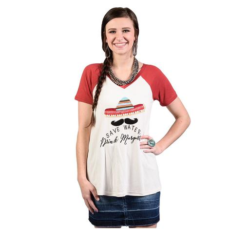 Womens Save Water Drink Ritas Tee
