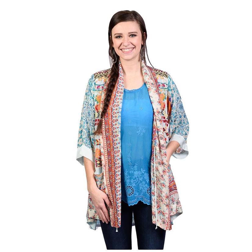 Johnny Was Womens Betimo Embroidery Kimono