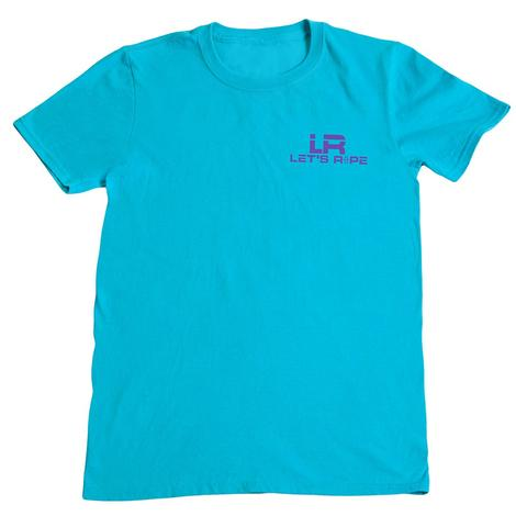 Lets Rope Turquoise & Purple Tee