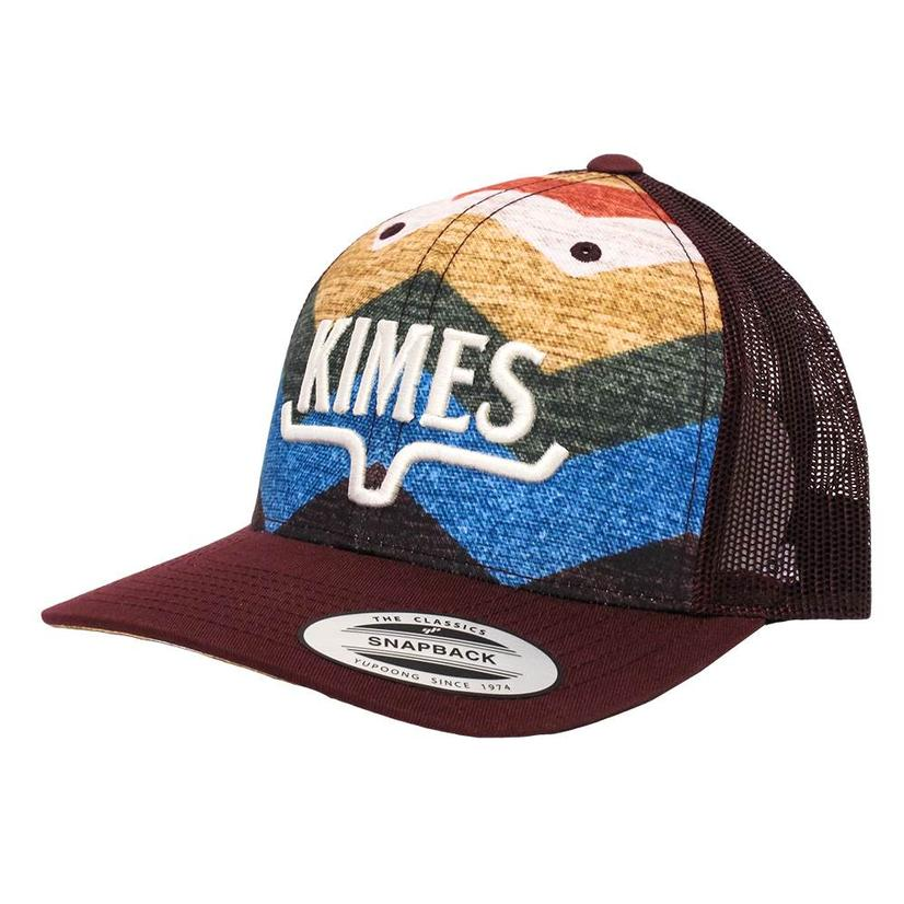 Kimes Ranch Crimson Hand Woven Trucker Cap