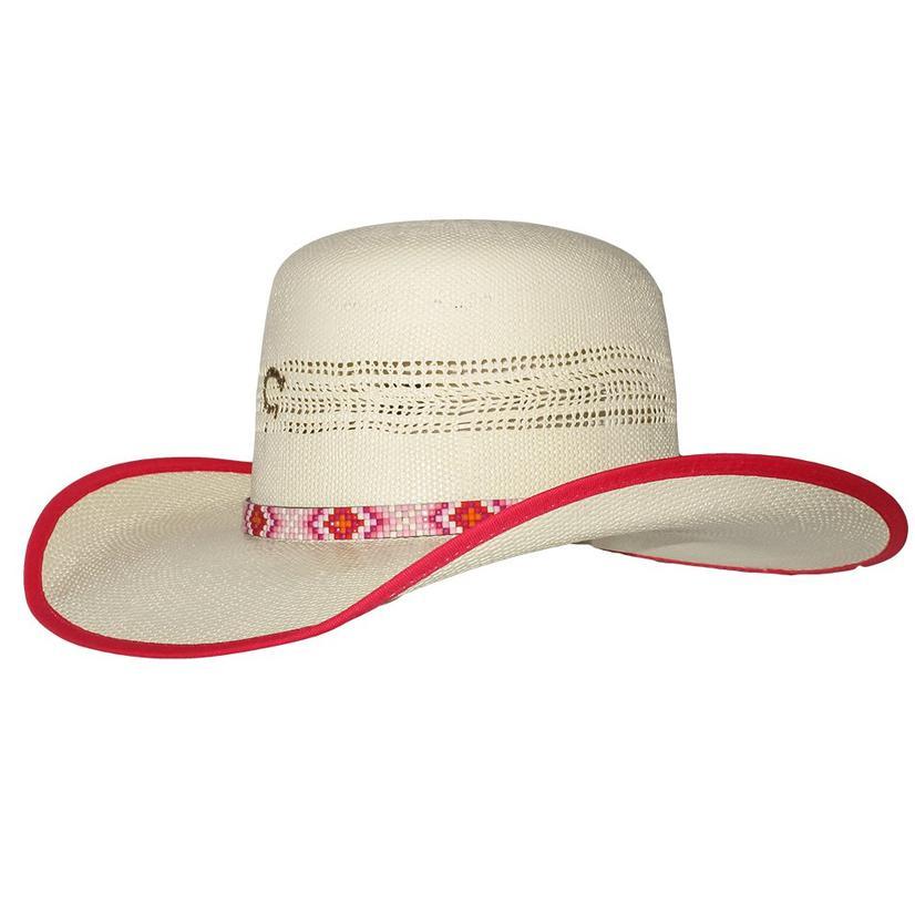 Charlie 1 Horse Girl Boss Hot Pink Edge Straw Hat