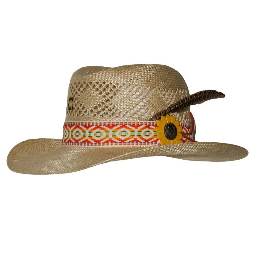 Charlie 1 Horse Heart Breaker Red Band Straw Hat