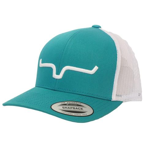 Kimes Ranch Teal and White Mesh Cap