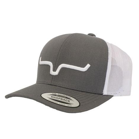 Kimes Ranch Rope Burn Grey Trucker Cap