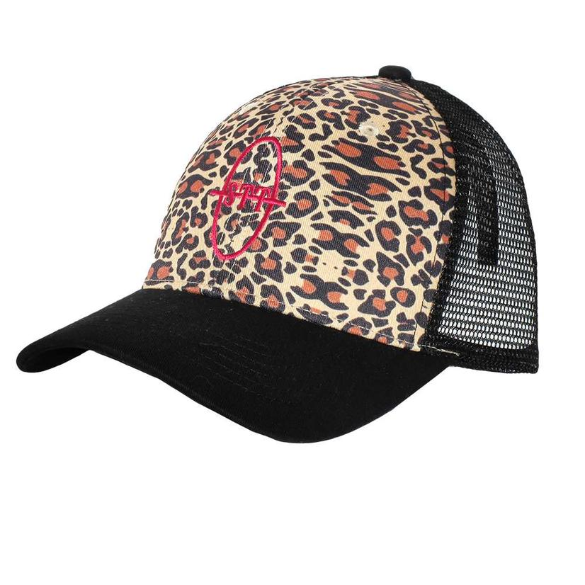 Stt Leopard Hot Pink Black Mesh Back Cap