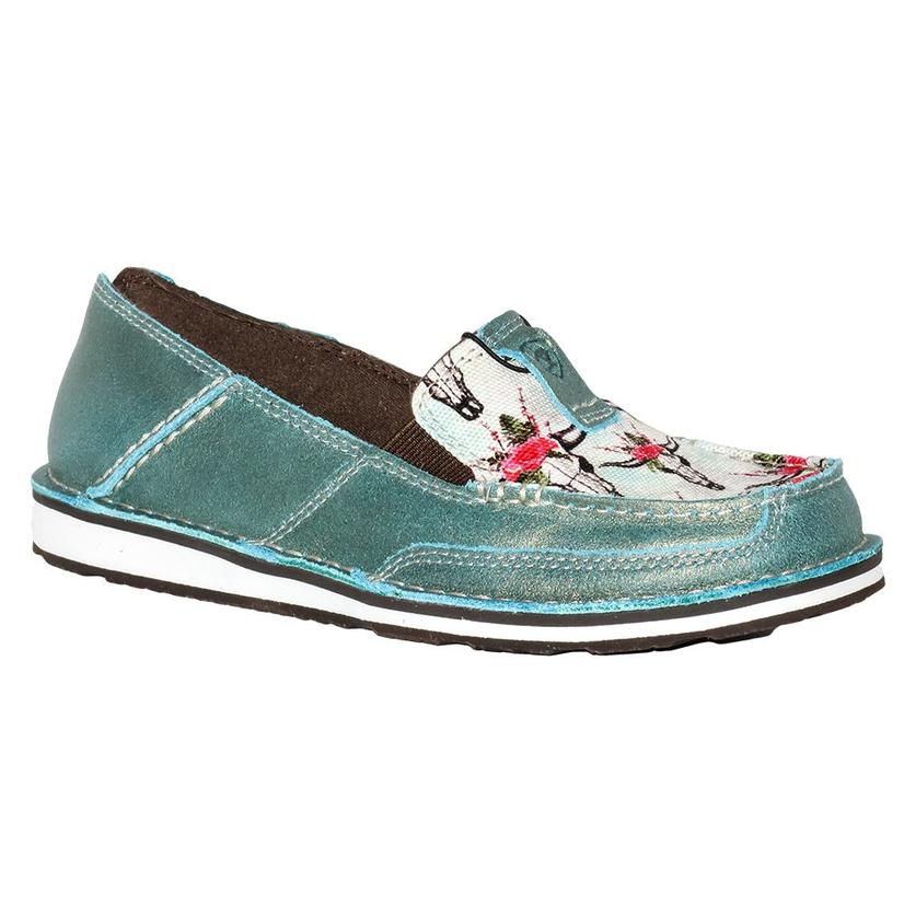 Ariat Womens Shimmer Turquoise Steer Cruiser