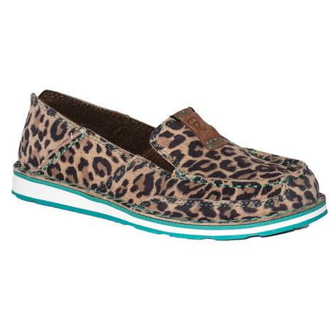 Ariat Womens Turquoise Cheetah Cruiser