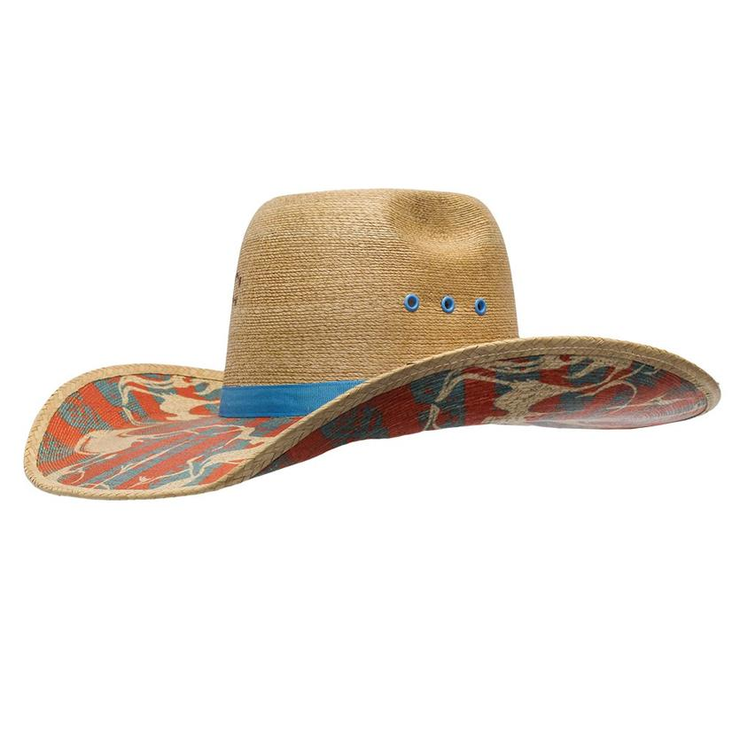 Charlie 1 Horse Herd My Name Multi Brim Turquoise Brim Straw Hat
