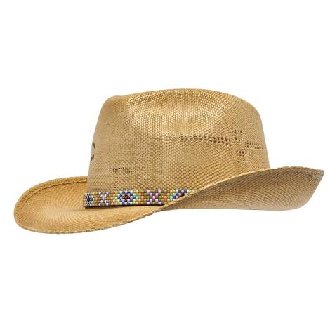 f71c0f279bb14 Charlie 1 Horse Choctaw Cutie Aztec Band Straw Fedora