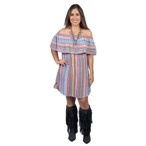 Tasha Polizzi Womens Senorita Dance Hall Serape Dress