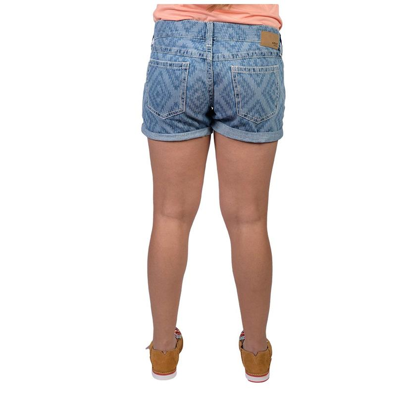 Ariat Womens Boyfriend Aztec Laser Shorts
