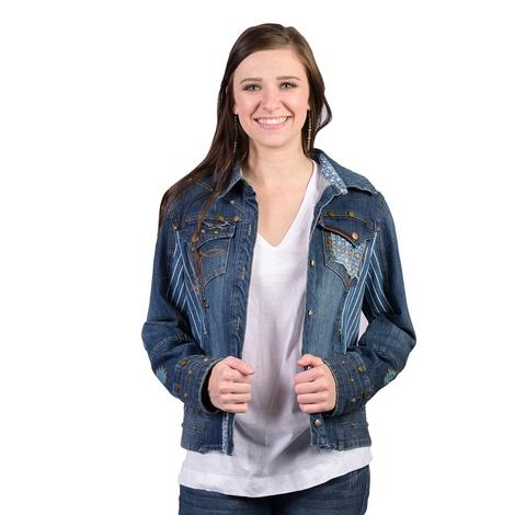 Double D Ranch Womens Blue Canyon Jacket