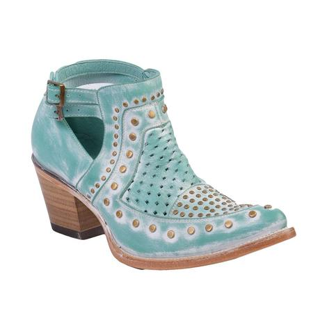 Corral Womens Turquoise Studded Booties