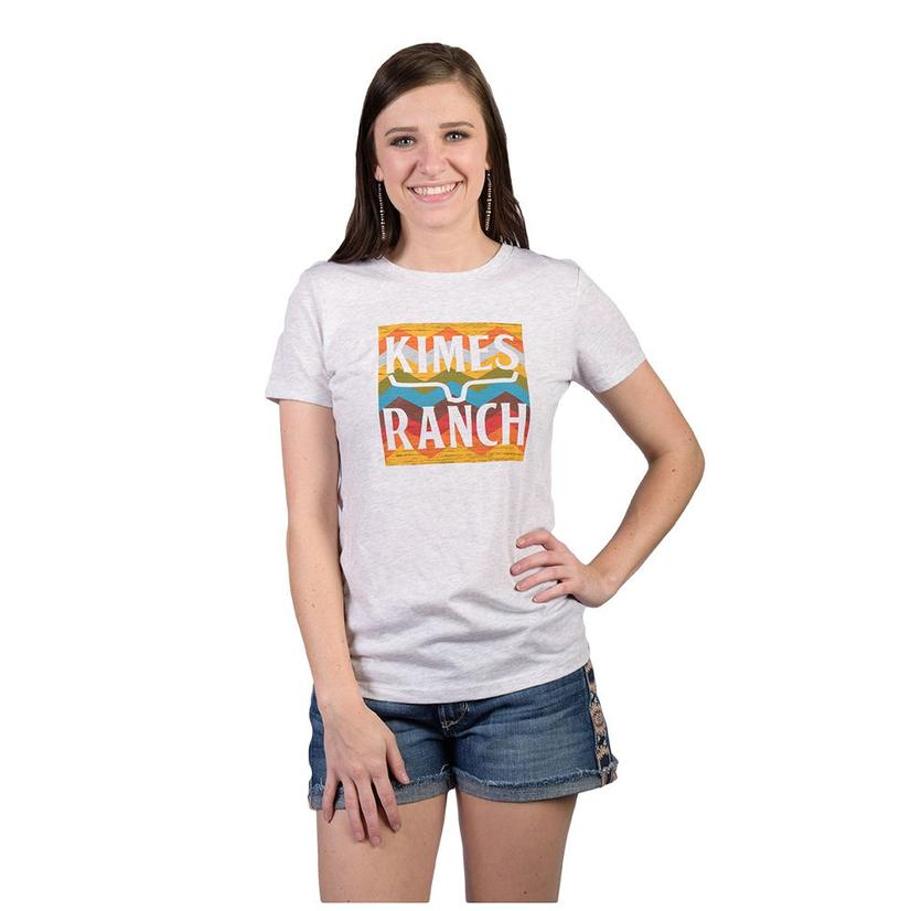 Kimes Ranch Hand Woven Tee LIGHTGREY